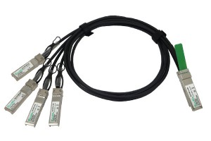40GbE QSFP+ to 4 x SFP+ twinax copper DAC breakout cable, 1M