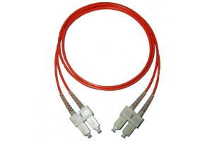 SC to SC, Multimode 50/125um, duplex, 3.0mm x 2 cable, 10 meter