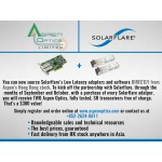 Solarflare Flareon Ultra SFN7322F Dual-Port 10GbE PCIe 3.0 PTP Server I/O Adapter with Hardware Time Stamping