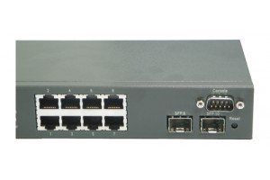 MetroBlazer MB1210S+ managed gigabit switch, 8 x 1G RJ45 ports, 2 x 1G SFP slots